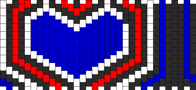 Red White Blue Heart