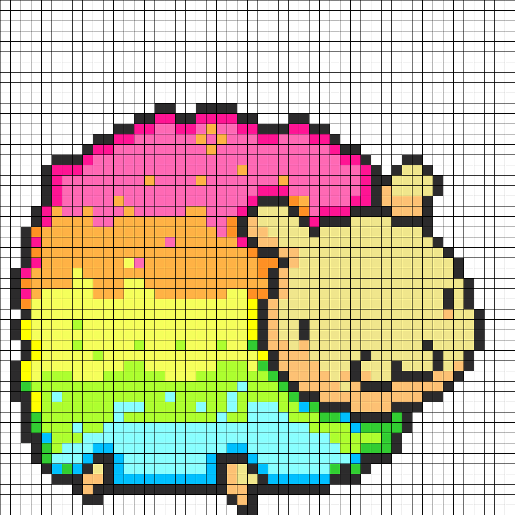 Fluffy_Rainbow_sheep_perler