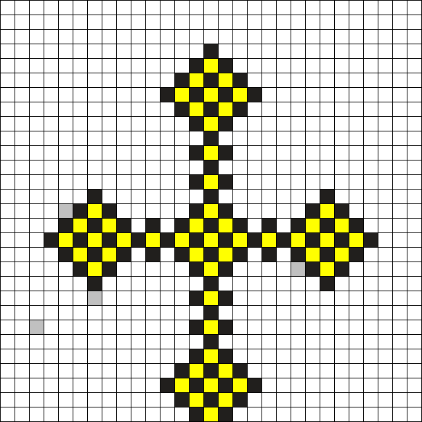 black_and_yellow_cross