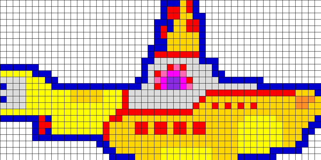 Yellow_Submarine_Perler