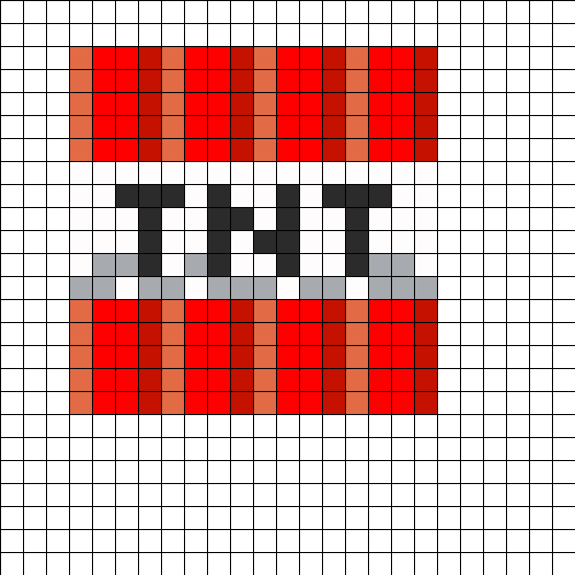 Kandi patterns view user for Minecraft tnt block template
