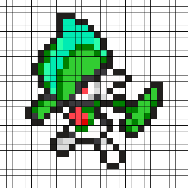 Gallade Pokemon Bead Pattern