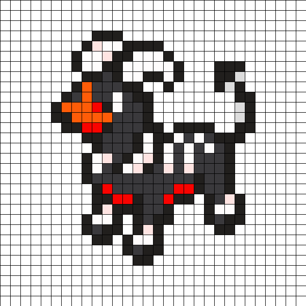 Houndoom Pokemon Bead Pattern