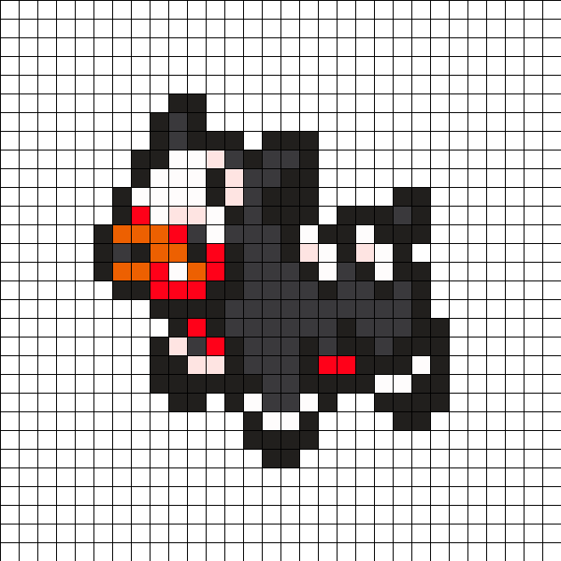 Houndour Pokemon Bead Pattern