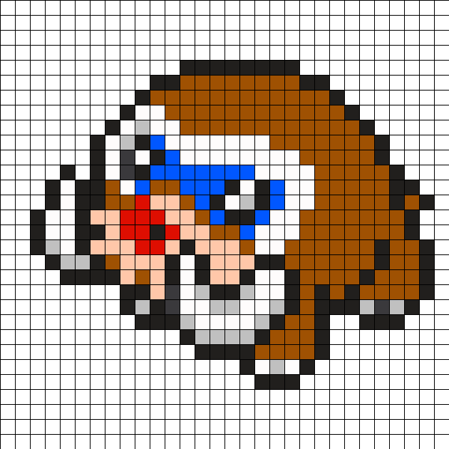 Mamoswine Pokemon Bead Pattern