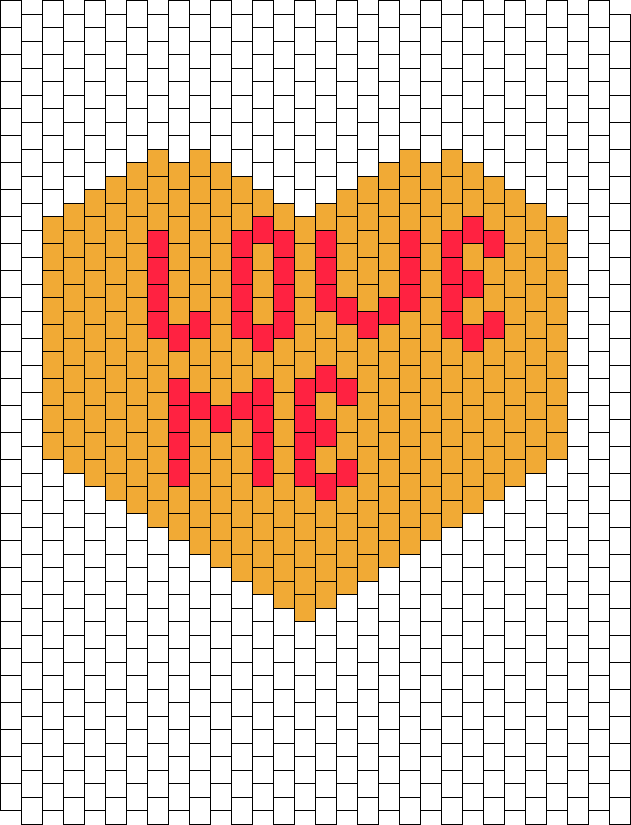 Orange Love Me Conversation Heart Panel