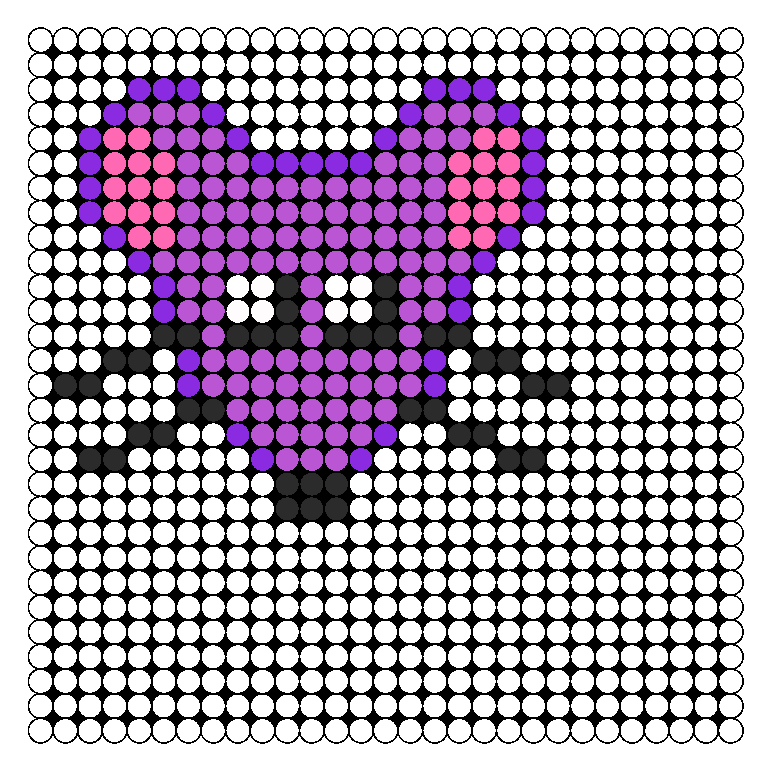 Perler Purple Rat Face