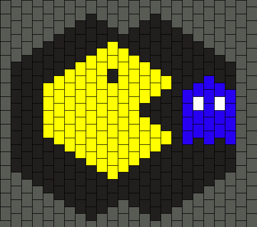 Pacman And Blue Mask