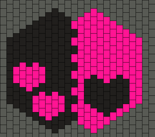Pink And Black Hearts Mask