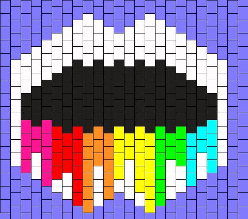 Rainbow Mouth Drip Mask