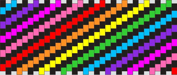 Rainbow Spirals Cuff